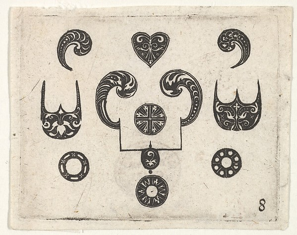 Fascinating Historical Picture of Georg Arnoldt with Blackwork Print with Various Motifs in 1620