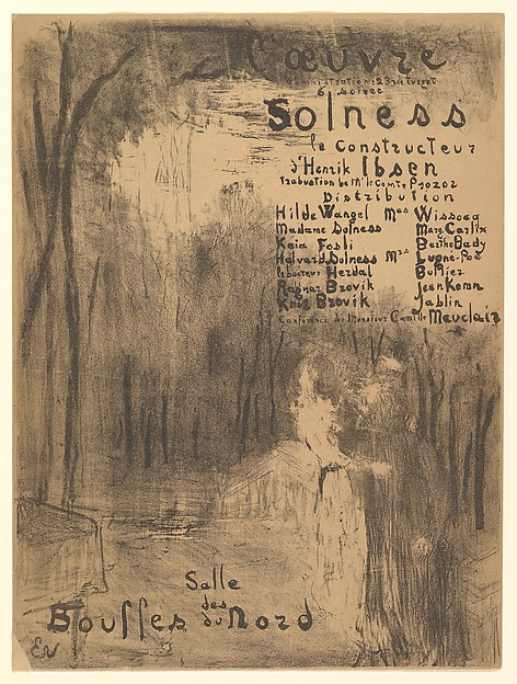 Solness le Constructeur, Program for Théâtre de l'Oeuvre, April 1894