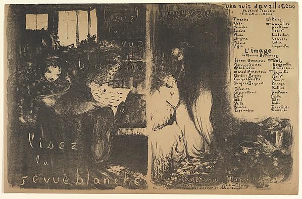 Lisez la Revue Blanche, and Une Nuit d'Avril à Céos, l'Image (Program for Théâtre de l'Oeuvre, February 1894)
