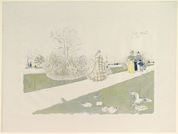 The Tuileries Garden, from Album des Peintres-Graveurs