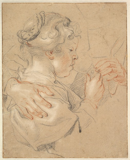 Study of a Young Girl Drinking from a Glass