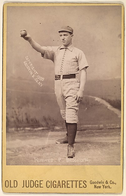 Hughes, Pitcher, Brooklyn, from the series Old Judge Cigarettes