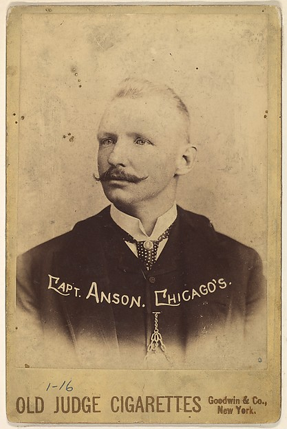 Captain Adrian Constantine Anson, Chicago, from the series Old Judge Cigarettes