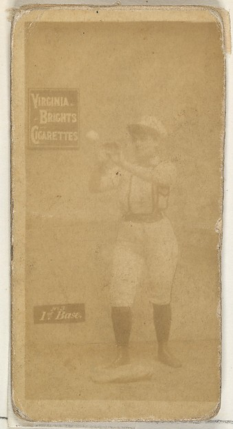 1st Base, from the Girl Baseball Players series (N48, Type 2) for Virginia Brights Cigarettes