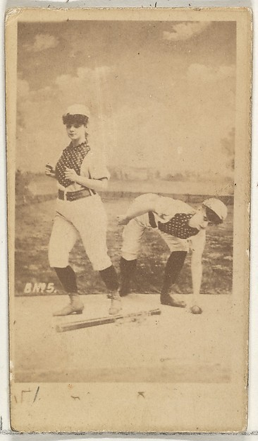 Card 5, from the Girl Baseball Players series (N48, Type 1) for Virginia Brights Cigarettes