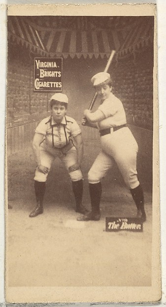 The Batter, from the Girl Baseball Players series (N48, Type 2) for Virginia Brights Cigarettes