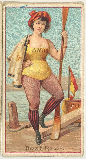 Boat Racer, from the Occupations of Women series (N502) for Frishmuth's Tobacco Company