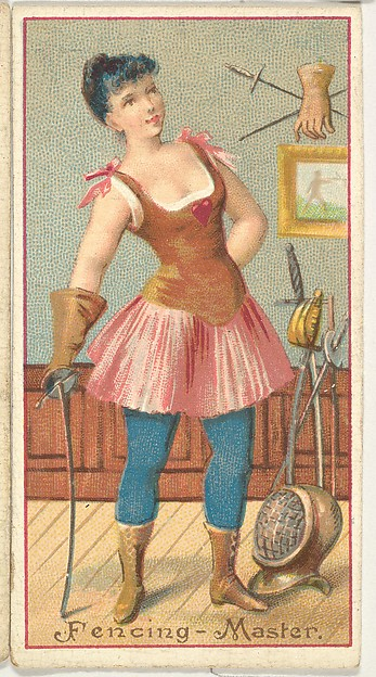 Fencing Master, from the Occupations of Women series (N502) for Frishmuth's Tobacco Company