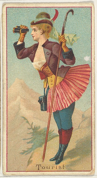 Tourist, from the Occupations of Women series (N502) for Frishmuth's Tobacco Company
