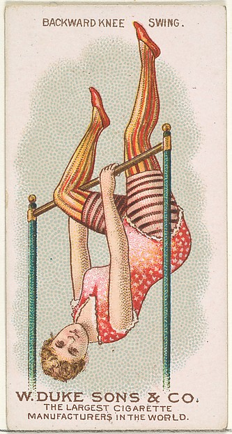 Backward Knee Swing, from the Gymnastic Exercises series (N77) for Duke brand cigarettes