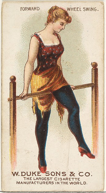 Forward Wheel Swing, from the Gymnastic Exercises series (N77) for Duke brand cigarettes
