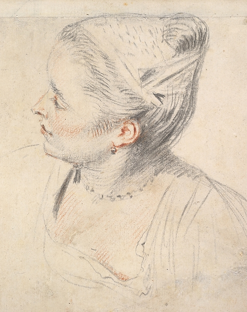 Study of a Woman's Head and Hands