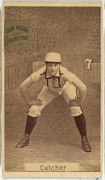 Card 7, Catcher, from the series