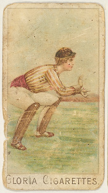 """From the series """"Sports Girls"""" (C190), issued by the American Cigarette Company, Ltd., Montreal, to promote Gloria Cigarettes"""