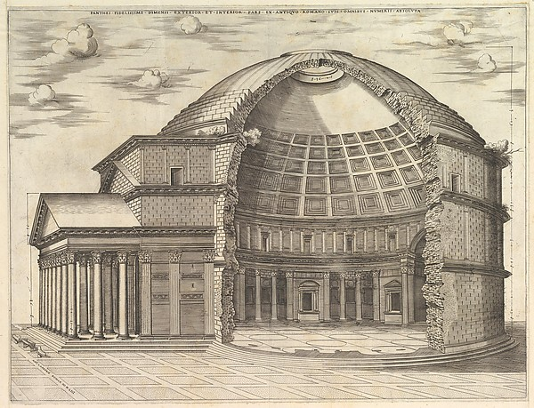 The Pantheon, broken away to show the interior