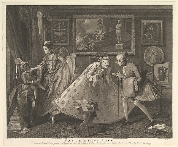 Fascinating Historical Picture of William Hogarth with Taste in High Life on 5/1/1798