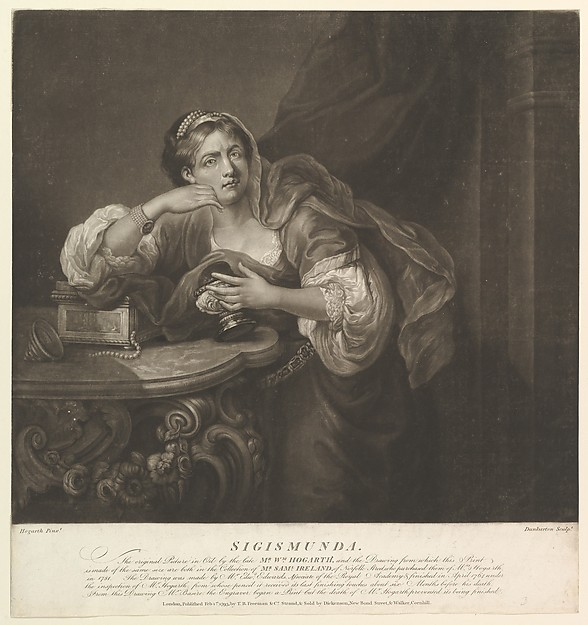 Fascinating Historical Picture of William Hogarth with Sigismunda on 2/1/1793