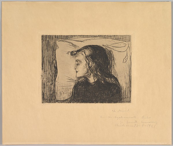 This is What Edvard Munch and The Sick Girl Looked Like  in 1896