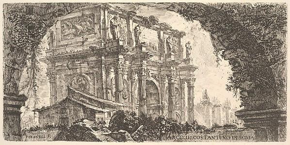 Plate 9: Arch of Constantine in Rome (Arco di Costantino in Roma)
