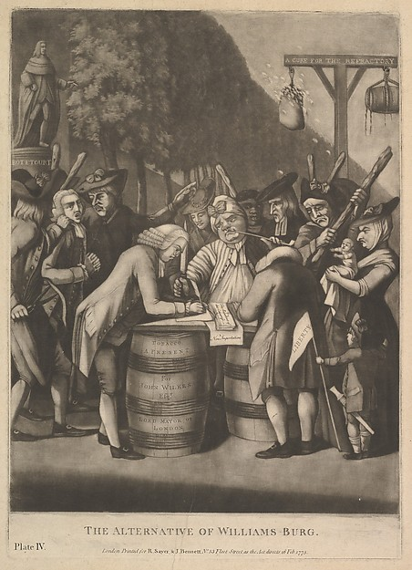 Fascinating Historical Picture of Philip Dawe with The Alternative of WIlliams-Burg on 2/16/1775