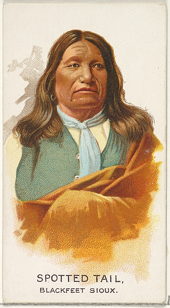 Spotted Tail, Blackfeet Sioux, from the American Indian Chiefs series (N2) for Allen & Ginter Cigarettes Brands