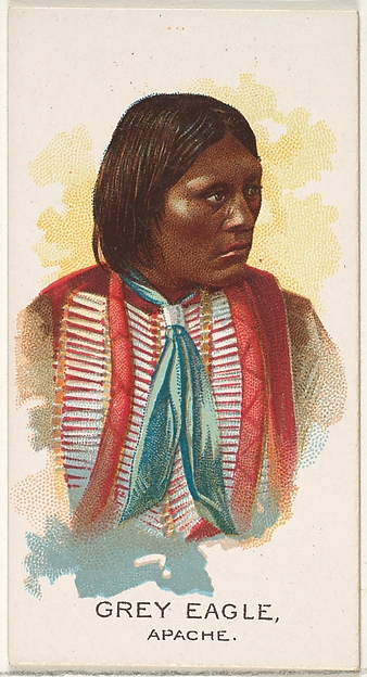 Grey Eagle, Apache, from the American Indian Chiefs series (N2) for Allen & Ginter Cigarettes Brands