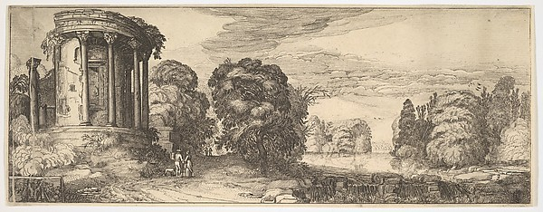 This is What Jan van de Velde II and The Temple of the Sibyl at Tivoli (from Landscapes and Ruins) Looked Like  in 1615