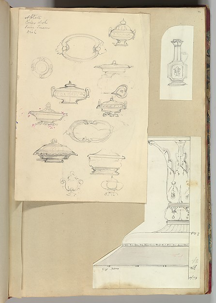 Designs for Tureens and a Platter