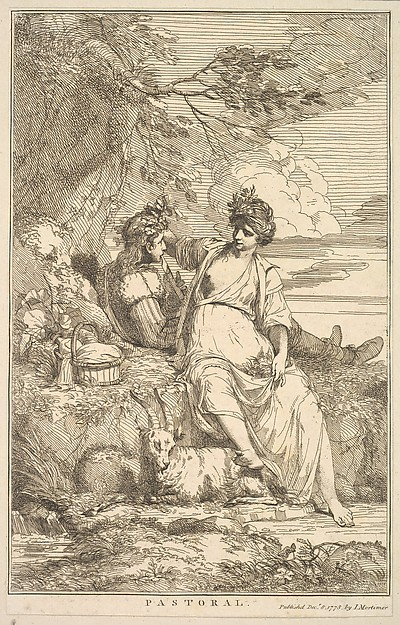 Fascinating Historical Picture of  with Pastoral (from Fifteen Etchings Dedicated to Sir Joshua Reynolds) on 12/8/1778