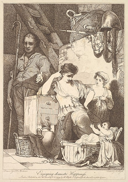 Fascinating Historical Picture of John Hamilton Mortimer with Enjoying Domestic Happiness on 11/15/1779