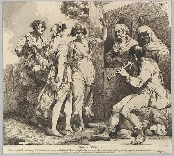 Fascinating Historical Picture of John Hamilton Mortimer with Rustick Dancers on 11/9/1780