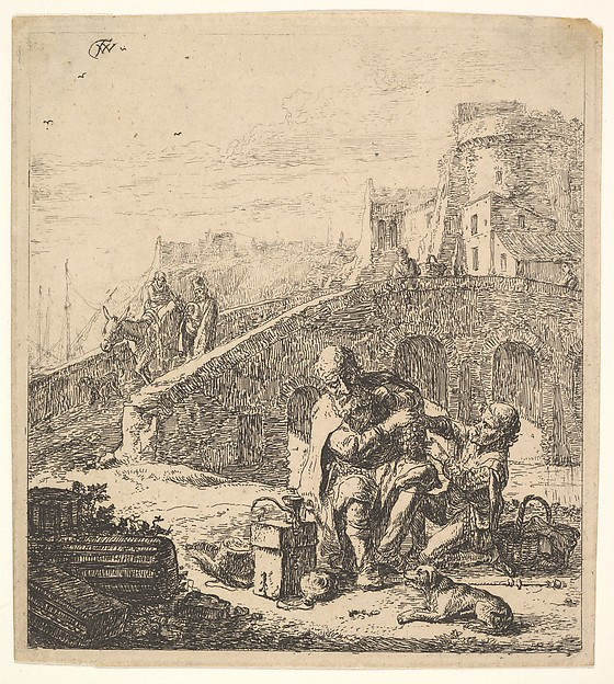 Lazarillo Stealing Grapes from the Poor Blind Beggar