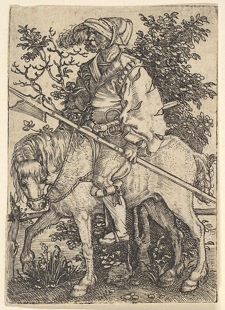 Halberdier on Horseback