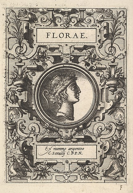 """Florae"" (from Four Plates from Ortelius, Deorum...)"