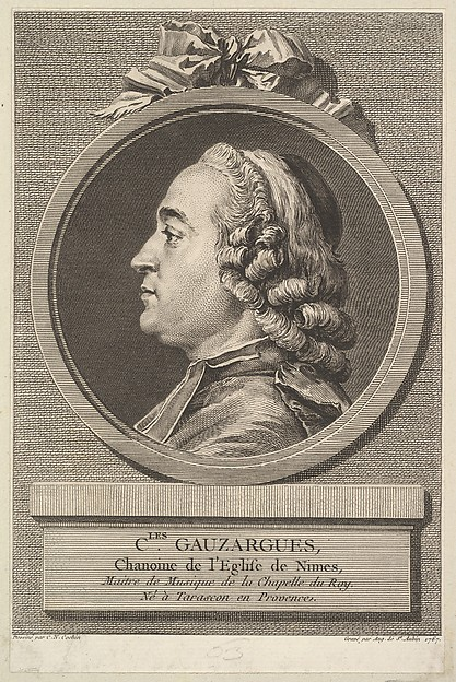 Fascinating Historical Picture of Augustin de Saint-Aubin with Portrait of Charles Gauzargues in 1767