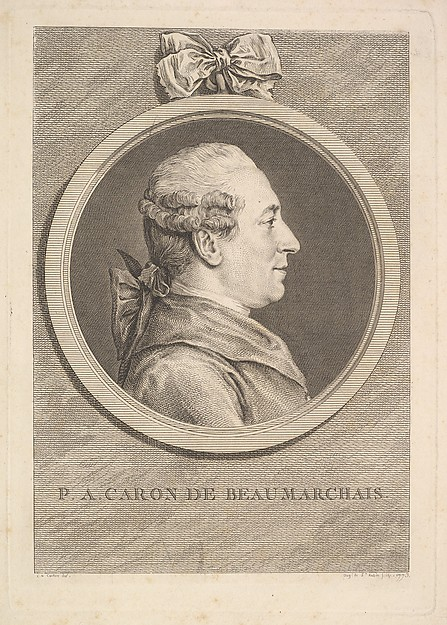 Portrait of P.A. Caron de Beaumarchais