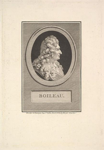 Portrait of Despréaux Nicolas Boileau