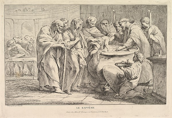 Fascinating Historical Picture of Pierre Charles Trmolires with The Baptism in 1734
