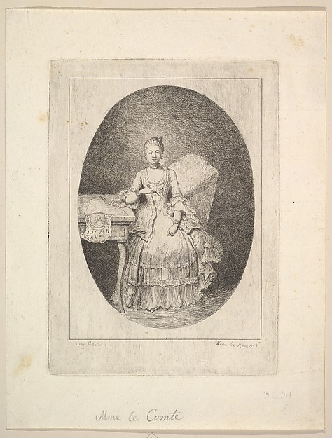 Portrait of Marguerite Le Comte