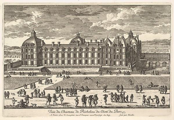 Veüe du Château de Richelieu du Côté du Parc