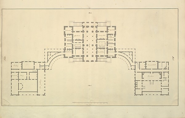 Houghton Hall, Norfolk, Ground Floor (Basement) Plan