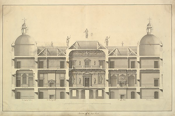 Section of the East Front, Houghton Hall, Norfolk