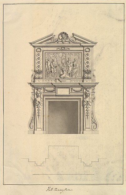 Hall Chimney-Piece, Houghton Hall, Norfolk