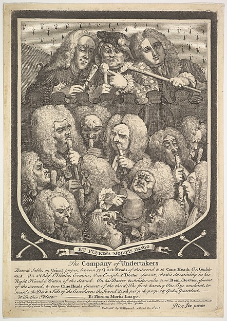 Fascinating Historical Picture of William Hogarth with The Company of Undertakers on 3/3/1736