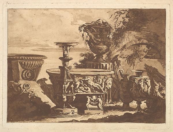 Composition with the Medici Vase, from Recueil de Compositions par Lagrenée Le Jeune (Collection of Compositions by Lagrenée the Younger)