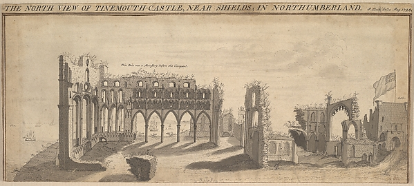 Fascinating Historical Picture of Samuel Buck with Tynemouth Castle Northumberland in 1728