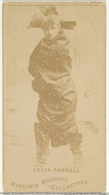 Leila Farrell, from the Actors and Actresses series (N45, Type 1) for Virginia Brights Cigarettes