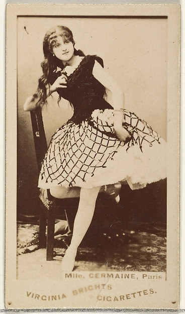 Mlle. Germaine, Paris, from the Actors and Actresses series (N45, Type 1) for Virginia Brights Cigarettes