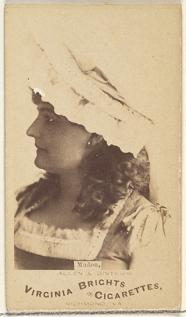 Madon, from the Actors and Actresses series (N45, Type 1) for Virginia Brights Cigarettes