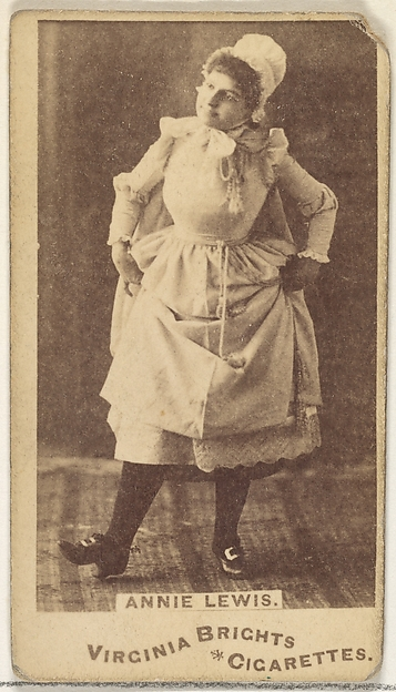 Annie Lewis, from the Actors and Actresses series (N45, Type 1) for Virginia Brights Cigarettes